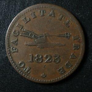 UC-12A1-Halfpenny-token-1823-Upper-Canada-To-Facilitate-Trade-ship-Breton-730