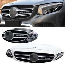 1 Pcs AMG Badge Sticker Front Bumper Grill Kidney Chrome Emblem for Mercedes s86