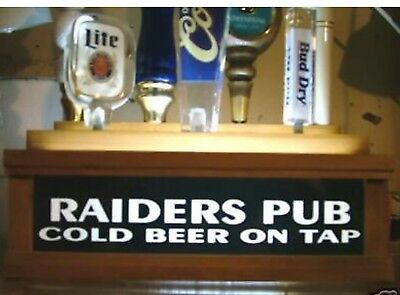 "BLACK FINISH COLOR LED/'S 7 Beer tap Handle Display  /""Fine Beer Served Here/"""