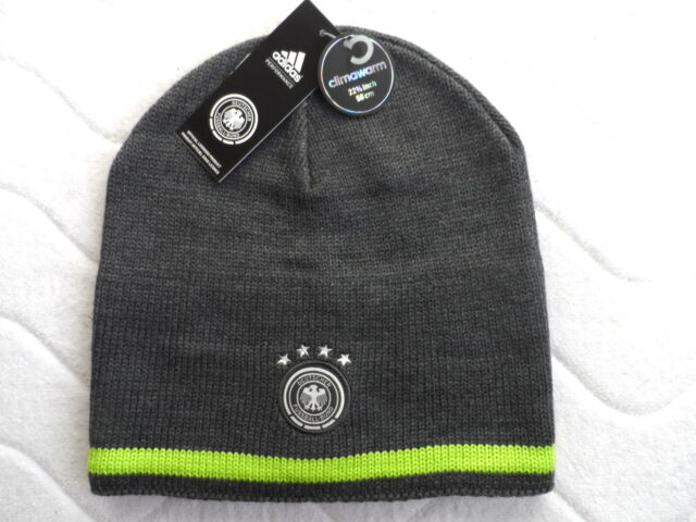 GERMANY ADIDAS FOOTBALL BEANIE HAT Deutschland GORRO Mens OSFM Soccer Toque a6e73a46110