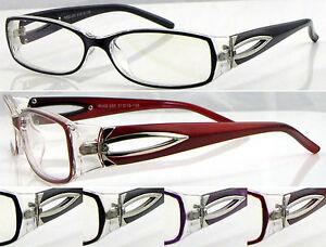 L285-Ladies-Memory-Plastic-TR90-Optical-Reading-Glasses-Diamante-amp-Metal-Details