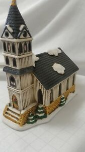 Lefton-FIRST-CHURCH-Colonial-Christmas-Village-Holiday-07333-1989-Holiday-C2