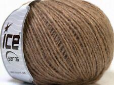 Peru Alpaca Light DK Yarn #38133 Fawn Brown Ice 50gr 191yds Alpaca, Merino Wool