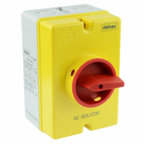20A 4 Pole Rotary Isolator Switch