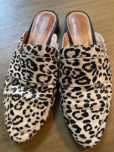 Halogen Nordstrom Mule In Leopard Calf
