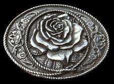 Rose Hippie Flower Floral Western Cowgirl Belt Buckle FleureBoucle de Ceinture