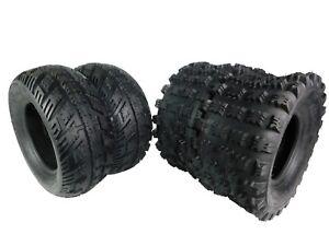 21x7-10 /& 20x10-9 Sport ATV Tire Set for Yamaha Raptor 350 660 700