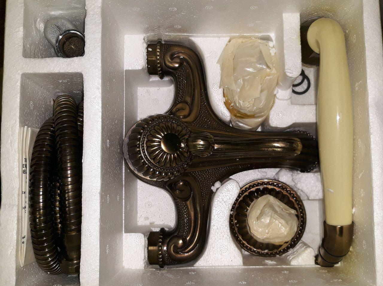 Sottini Bronze Mischbatterie Badewannen Wannen Armatur Einhebelmischer