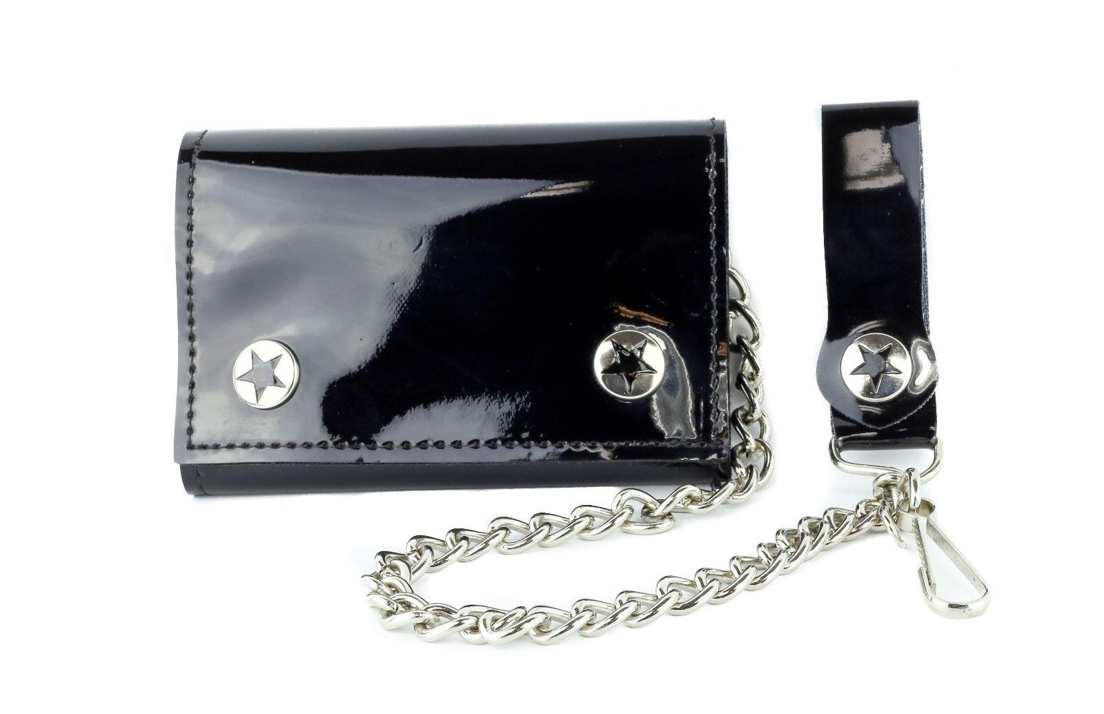 Dysfunctional Doll Logo Tri-fold Wallet w Chain Goth Occult Punk Alternative Emo