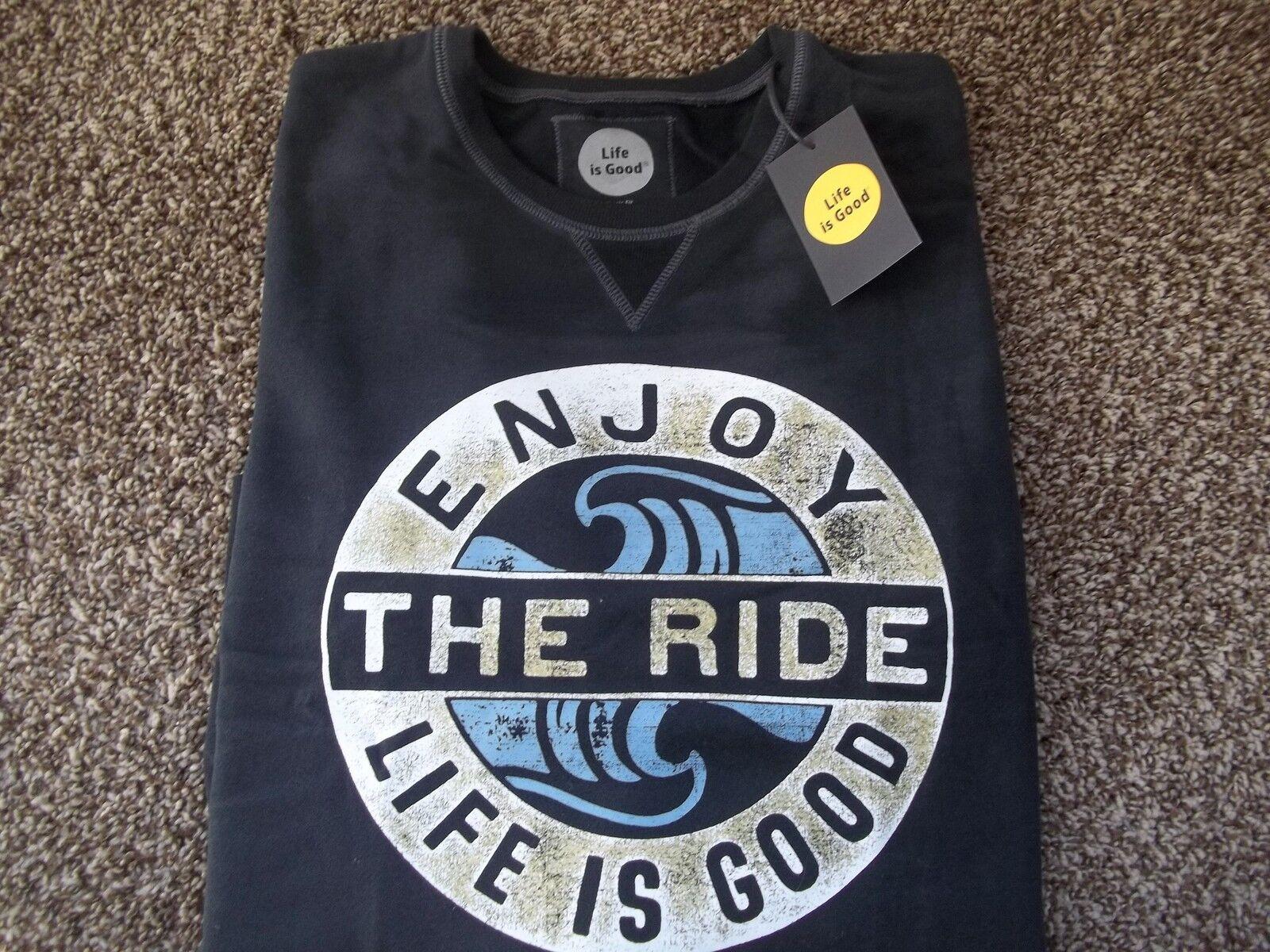 17f7e5e92d00a4 Life is Good Enjoy the Ride SweatshirtNEWSz M Fit Classic  nnkpdd1964-Hoodies   Sweatshirts