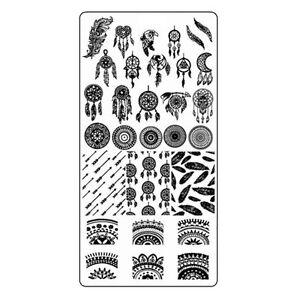 Traumfaenger-Stamping-Schablone-Platte-Nail-Art-Stempelschablone-Dreamcatch-2