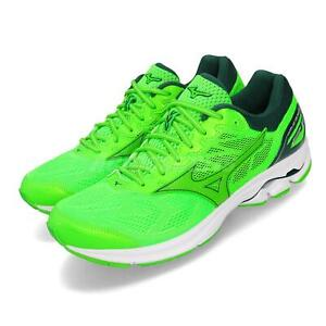 Mizuno-Wave-Rider-21-Green-White-Men-Running-Training-Shoes-Sneakers-J1GC1803-41