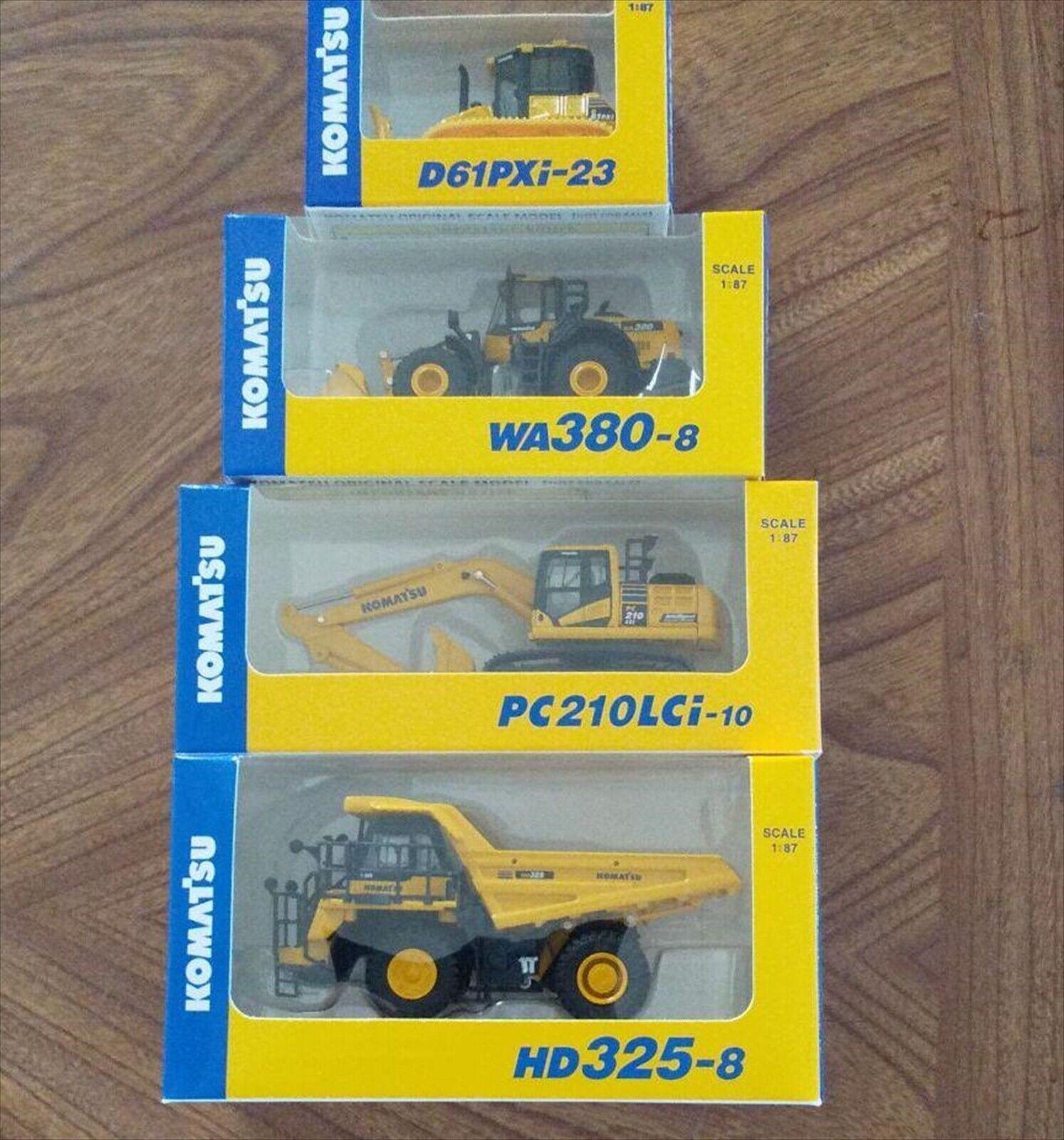 Komatsu (WA380-8 Wheel  Loader) (PC210LCi-10 Excavateur) (D61PXi-23) (HD325-8) 1 87  100% neuf avec qualité d'origine