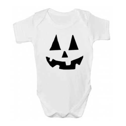Sleepsuit Pumpkin Spooky Baby Grow Scary Halloween Baby Clothing