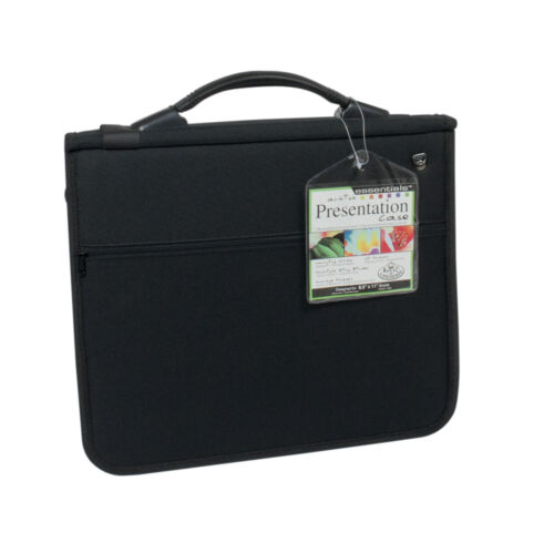 A4 CUSHIONED RING BINDER ARTIST STORAGE PORTFOLIO CASE /& 3 ACID FREE SLEEVES