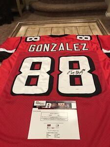 100% authentic 9bec1 ab2ca Details about Tony Gonzalez Autographed/Signed Jersey JSA Sticker Atlanta  Falcons Cal HOF