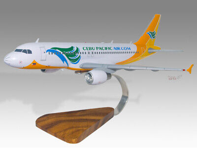 Precise Airbus A320 Cebu Pacific Solid Kiln Dried Mahogany Wood Handmade Desktop Model Elegant Appearance Airlines