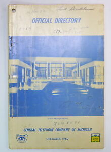 General Telephone Company Of Michigan 1969 Headquarters Phone Book Directory Ebay