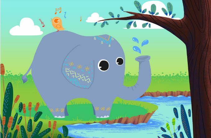 3D 3D 3D lila Elephant Tree Paper Wall Print Decal Wall Wall Murals AJ WALLPAPER GB 273b6a