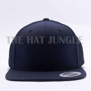 Image is loading Yupoong-Snapback-Hat-Plain-6089M-Classic-Flexfit-Baseball- 383555141658