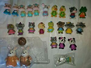 LOT-24-Lil-Woodzeez-toys-bobbleheads-Rabbits-Pigs-Koala-Panda-Racoons-Bears