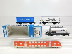 CL656-0-5-3x-Maerklin-H0-AC-Gueterwagen-SJ-4532-4566-Volvo-sehr-gut-1x-OVP