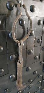 Support-chaudron-en-fer-forge-Porte-marmite-Crochet-pour-cheminee-iron