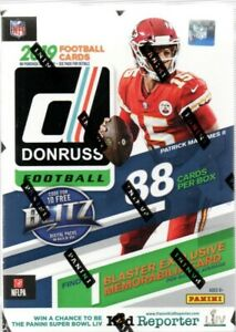 2019-Donruss-Football-NFL-Blaster-Box-88-Trading-Cards-Rated-Rookies-or-Rookies