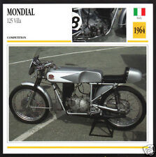 1964 FB Mondial 125cc Villa Brothers Italy Racing Motorcycle Photo Spec Card
