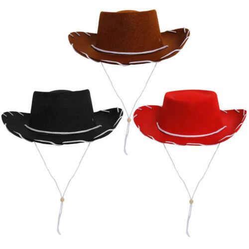 Bambini Cappelli da cowboy con stringa Wild Western Cowgirl Ragazzi Ragazze Unisex Costume
