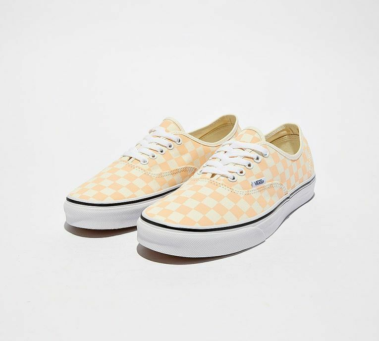 VANS AUTHENTIC CHECKEBOARD LOW MEN SHOES orange WHITE WOX932124 SIZE 9 NEW