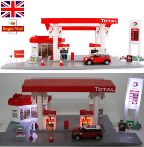 1-64-Sound-amp-Light-Car-GAS-Petrol-Service-Station-Tanker-Truck-Kids-Toys-Playset