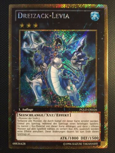 near Mint! Trident-Levia PGLD-DE026 YuGiOh!! Gold Secret Rare