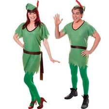 MENS LADIES ADULT ROBIN HOOD ELF TUNIC CHRISTMAS FANCY DRESS COSTUME OUTFIT