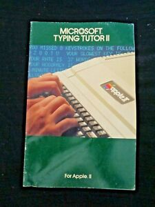 Vintage-Green-1982-Microsoft-Typing-Tutor-II-for-Apple-II-Manual-Computer-Guide