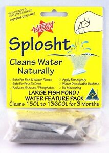 Splosht Large Fish Pond Cleaner Water Feature Pack Ebay