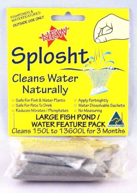 SPLOSHT Large Fish Pond Cleaner Algae Killer Natural Water Cleaner