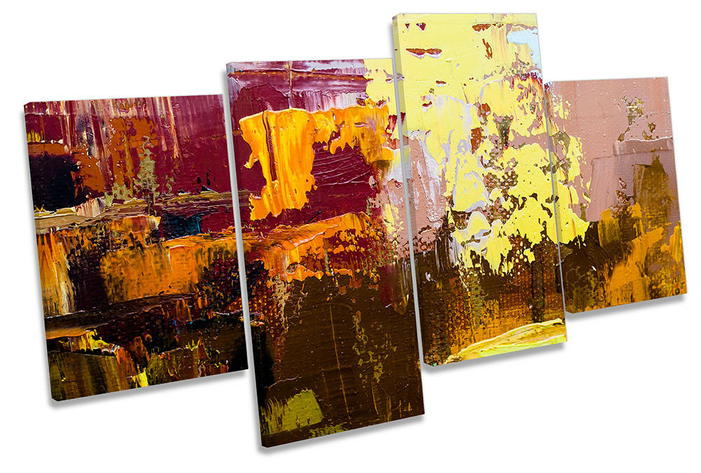 Abstract Paint Pallet Gelb MULTI CANVAS WALL ARTWORK Print Art