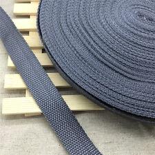 New DIY 10Yards Length 1 Inch (25mm)Width Dark Gray Nylon Webbing Strapping BS01