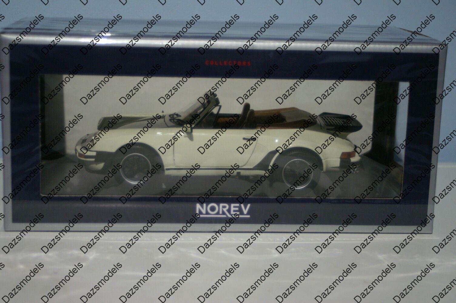 Norev Porsche 911 Turbo Cabriolet 1987 vit 1 18 skala 187661