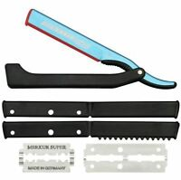 Dovo Solingen Shavette Straight Razor Blue With 4 Inserts 2010140 Fast Shipping