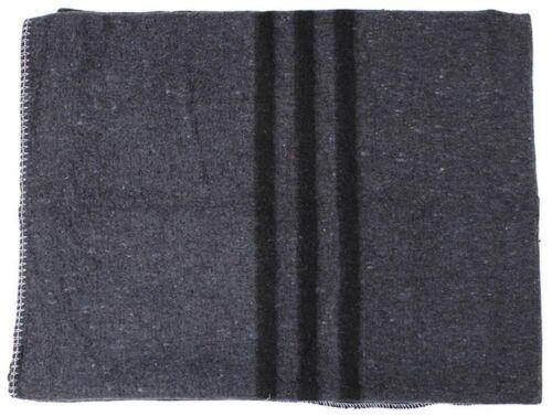 Biwakdecke grau 200 x 150 cm Pferdedecke Picknickdecke Decke anthrazit Armydecke