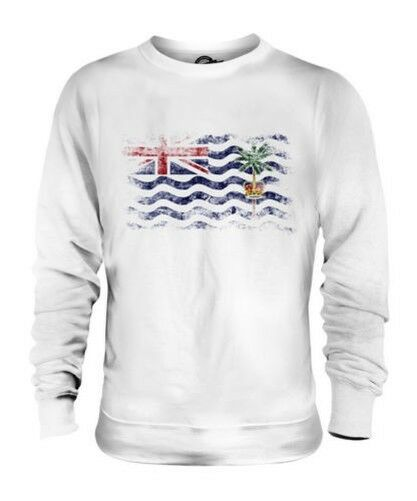 BRITISH INDIAN OCEAN TERRITORY DISTRESSED FLAG UNISEX SWEATER TOP GIFT SHIRT