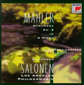 "MAHLER ""SYMPHONY NO. 3"" ANNA LARSSON, SALONEN, LOS ANGELES PHIL 2 CD SET 1998"
