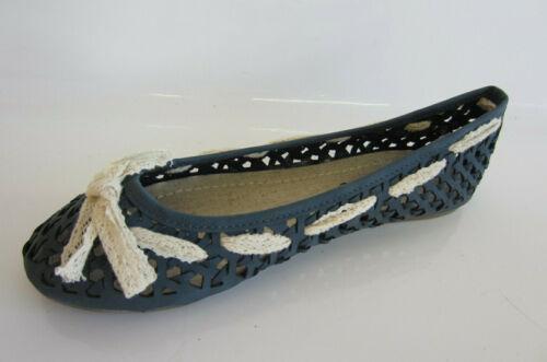 Update L4R915 Ladies Blue Flat Shoes R21A