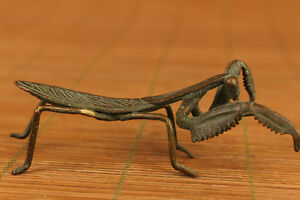 chinese-Old-bronze-hand-carving-Mantis-statue-figure-Noble-gift-home-decoration
