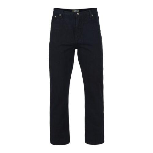 Kam Extragroß Klassische Passform Western Stil Denim Schwarz 150 Taille