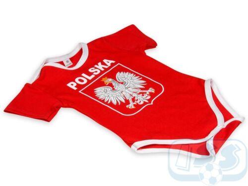 Poland baby bodysuit red JPOL09