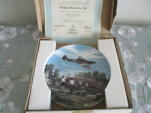 DEFIANT-HOME-FOR-TEA-ROYAL-DOULTON-COLLECTOR-039-S-PLATE-HEROES-OF-THE-SKY-SERIES