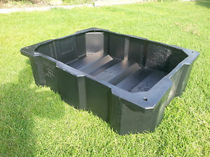 650 litre koi carp fish pond black poly feature tank for Poly fish pond
